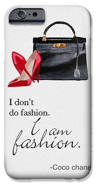 High Heeled iPhone Cases - I Am Fashion iPhone Case by Rebecca Jenkins