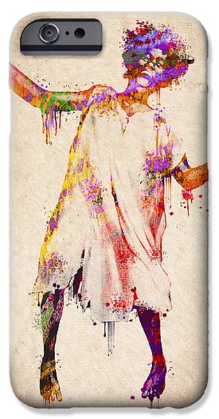 Smiling Mixed Media iPhone Cases - I am going crazy iPhone Case by Aged Pixel