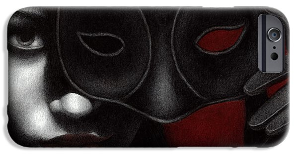 Goth iPhone Cases - I Am Only What I Allow You to See iPhone Case by Pat Erickson
