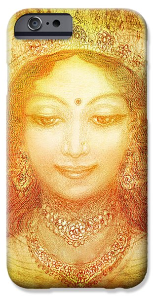 Hindu Goddess Mixed Media iPhone Cases - I Am That iPhone Case by Ananda Vdovic