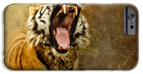 Tiger Digital iPhone Cases - I Am Woman Hear Me Roar iPhone Case by Betty LaRue