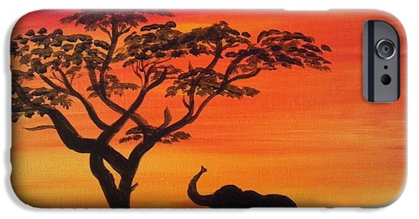 Elephants iPhone Cases - I Can Reach it iPhone Case by Karla Arthur