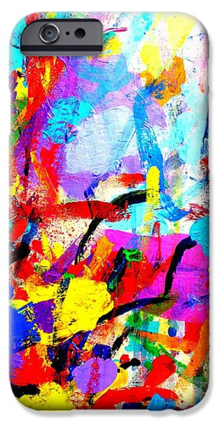 Abstract Expressionism iPhone Cases - I dream my painting and I paint my dream Vincent van Gogh quote iPhone Case by John  Nolan