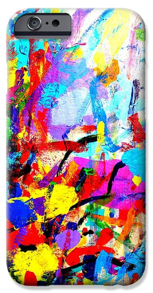 Fine Art Abstract iPhone Cases - I dream my painting and I paint my dream Vincent van Gogh quote iPhone Case by John  Nolan