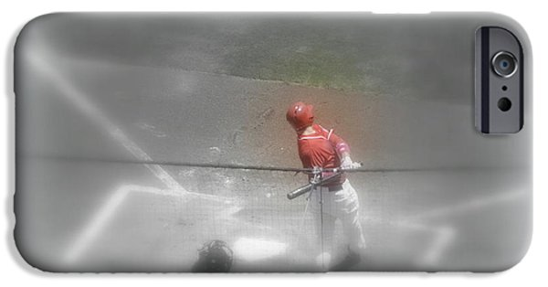 The Dream Team iPhone Cases - I Dream of Baseball iPhone Case by Kathy Barney