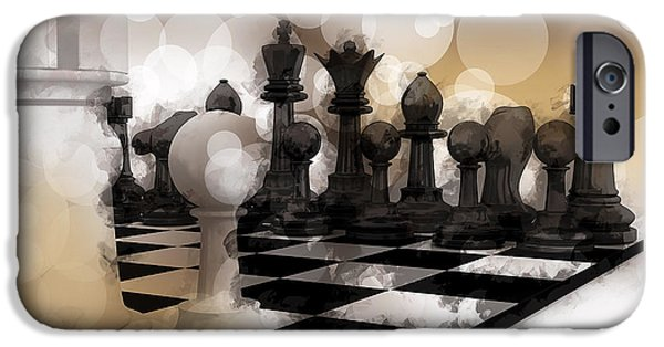 Skewed iPhone Cases - I DREAM of CHESS ... iPhone Case by Daniel Hagerman