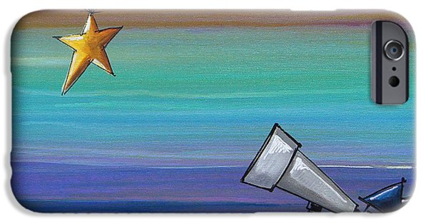 Star Nursery Paintings iPhone Cases - I Finally Found You iPhone Case by Cindy Thornton
