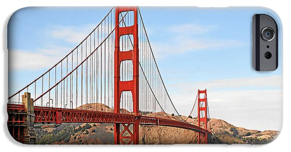 Christine Till iPhone Cases - I guard the California shore - Golden Gate Bridge San Francisco CA iPhone Case by Christine Till