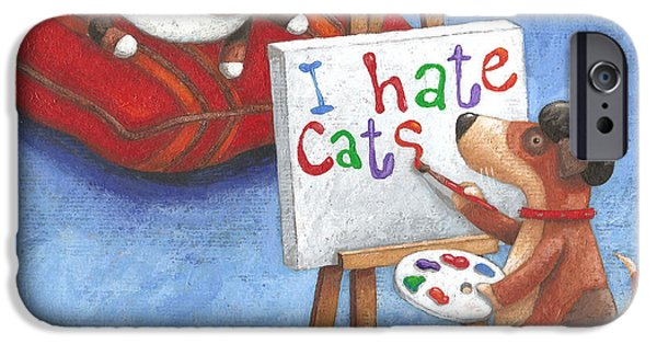 Cushions iPhone Cases - I Hate Cats iPhone Case by Peter Adderley