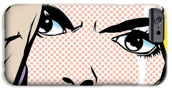 Modern Digital Digital Digital iPhone Cases - ...I Hate You... iPhone Case by Gary Grayson