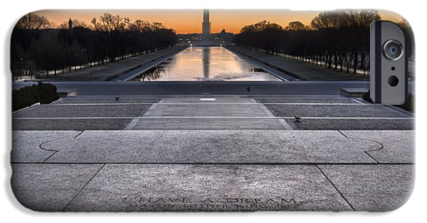 Lincoln Speech Digital iPhone Cases - I Have A Dream... iPhone Case by Eduard Moldoveanu