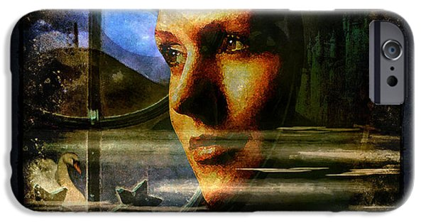 Morgan Le Fay iPhone Cases - I have called on the Goddess iPhone Case by Alice Van der Sluis