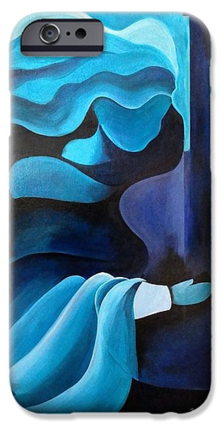 Blue Angel iPhone Cases - I hear music in the air iPhone Case by Patricia Brintle