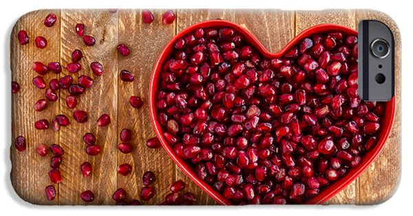 Locally Grown iPhone Cases - I Heart Pomegranates iPhone Case by Teri Virbickis
