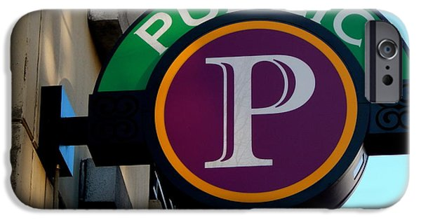 Chatham iPhone Cases - I hope that P means Parking iPhone Case by Terry Cobb