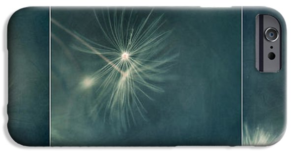 Poetic Photographs iPhone Cases - If I had one whish Triptychon iPhone Case by Priska Wettstein