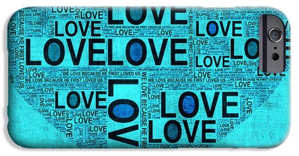 First Love iPhone Cases - I John Four Nineteen iPhone Case by Bonnie Bruno