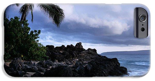 Aloha iPhone Cases - I ke kai Hawanawana Eia kuu lei Aloha - Paako Beach Maui Hawaii iPhone Case by Sharon Mau