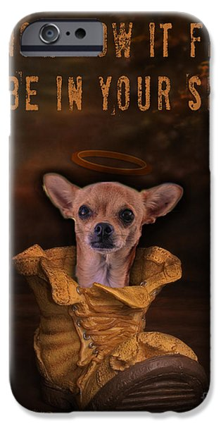 I Know How It Feels To Be In Your Shoes iPhone Case by Kathy Tarochione
