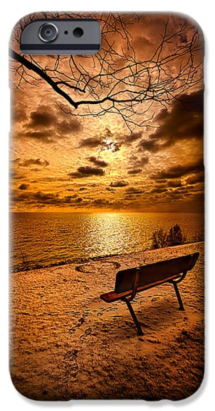 Bench iPhone Cases - I Know You Will Always Be There iPhone Case by Phil Koch