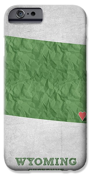 Equality iPhone Cases - I love Cheyenne Wyoming - Green iPhone Case by Aged Pixel