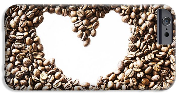 I Love America iPhone Cases - I Love Coffee Beans iPhone Case by Nomad Art And  Design