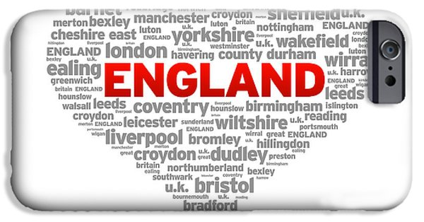 Recently Sold -  - Nation iPhone Cases - I Love England iPhone Case by Aged Pixel