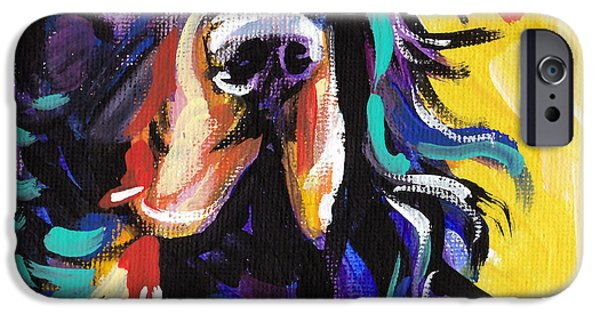 Gordon Setter iPhone Cases - I Love Gordon iPhone Case by Lea
