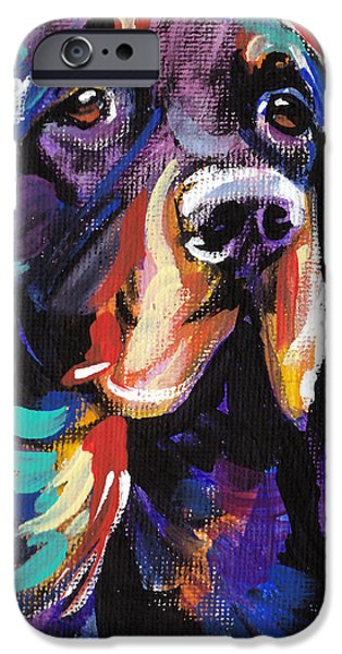 Gordon Setter Puppy iPhone Cases - I Love Gordon iPhone Case by Lea