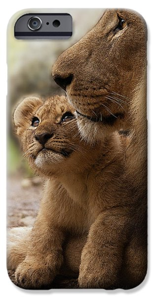 Recently Sold -  - Animals Photographs iPhone Cases - I love my Daddy iPhone Case by Christine Sponchia