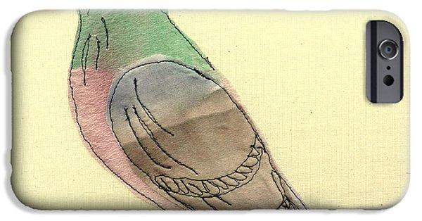 Racing Tapestries - Textiles iPhone Cases - Pigeon fancier iPhone Case by Hazel Millington