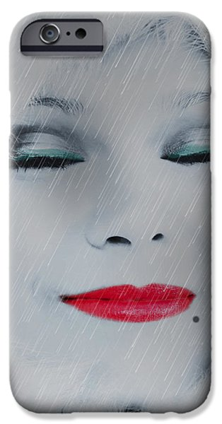 Beauty Mark Digital iPhone Cases - I Love To Smell Fresh Rain iPhone Case by EricaMaxine  Price