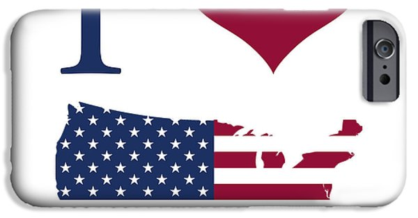 I Love America iPhone Cases - I love USA iPhone Case by Gina Dsgn