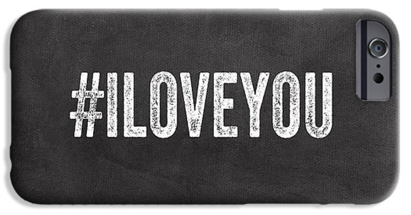 Employee iPhone Cases - I Love You - greeting card iPhone Case by Linda Woods