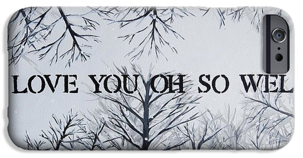 Dave iPhone Cases - I Love You Oh So Well DMB Painting iPhone Case by Michelle Eshleman