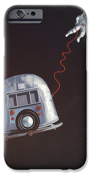 Outer Space Paintings iPhone Cases - I Need Space iPhone Case by Jeffrey Bess
