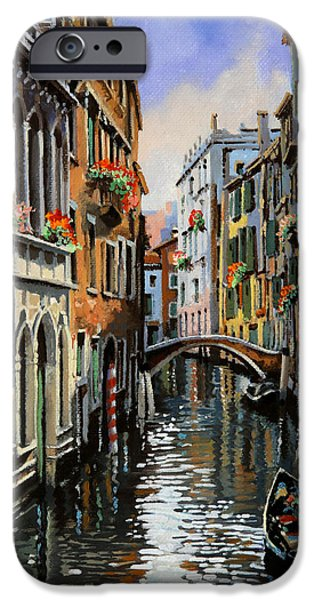 Venice iPhone Cases - I Pali Rossi iPhone Case by Guido Borelli