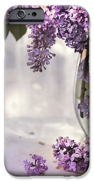 I PICKED A BOUQUET OF LILACS TODAY iPhone Case by Theresa Tahara