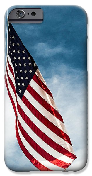 4th July Photographs iPhone Cases - I Pledge Allegiance iPhone Case by Shelby  Young
