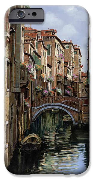 Venice iPhone Cases - I Ponti A Venezia iPhone Case by Guido Borelli