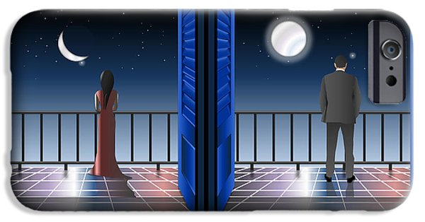Balcony iPhone Cases - I saw the crescent iPhone Case by Anna Elia