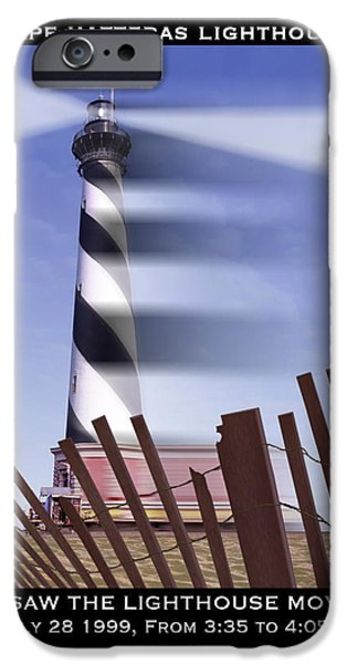 I Saw The Lighthouse Move iPhone Case by Mike McGlothlen