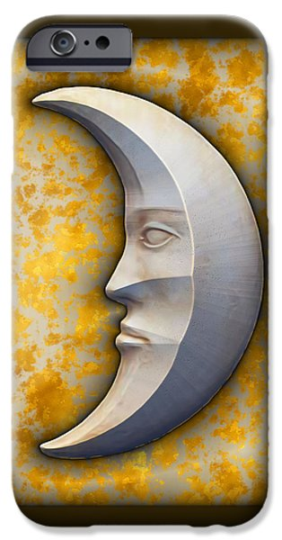 Art166.com iPhone Cases - I See The Moon 1 iPhone Case by Wendy J St Christopher