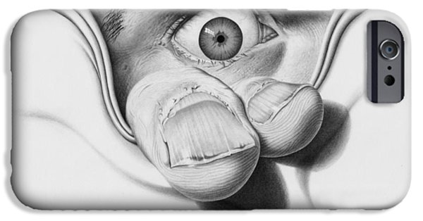 Dirty Drawings iPhone Cases - I See You iPhone Case by Joe Burgess