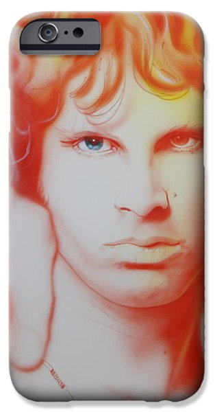 'I See Your Hair is Burning' iPhone Case by Christian Chapman Art