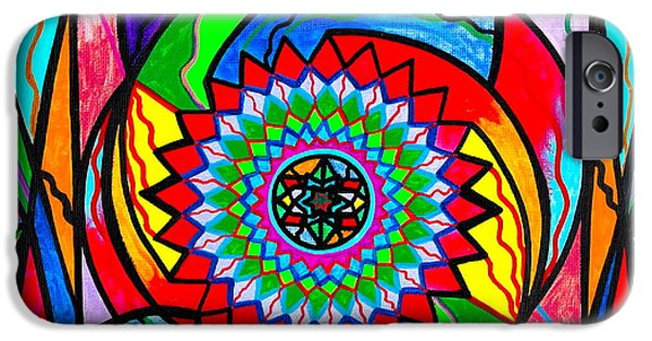 Mandalas iPhone Cases - I Trust Myself to Create iPhone Case by Teal Eye  Print Store