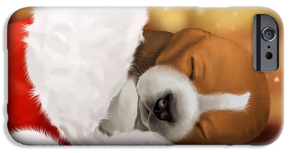 Beagles iPhone Cases - I wait... iPhone Case by Veronica Minozzi