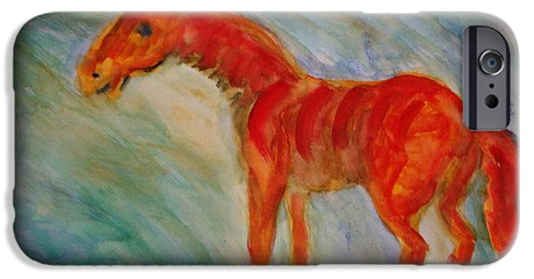Response Paintings iPhone Cases - I walk alone iPhone Case by Hilde Widerberg