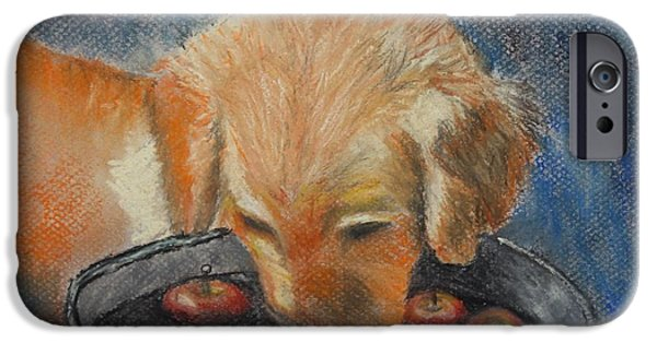 Puppies Pastels iPhone Cases - I Want One iPhone Case by Dale Bradley