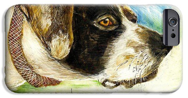 Setter Pointer iPhone Cases - I Want To Hunt iPhone Case by Joe Byrd